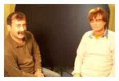 Сергей Никитин съемка для телеканала СТБ